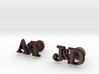 Personalised Initial Cufflinks 3d printed