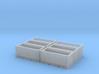 Steel Scrap bins (N scale) - set of 6 3d printed