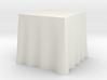 "1:24 Draped Table - 30"" square 3d printed"