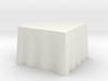 "1:48 Draped Table - 36"" square 3d printed"