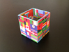 Cube with flags of the nations 3d printed 1