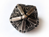 Stretcher Die20 3d printed In stainless steel and inked