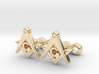Square And Compass Freemason Cufflinks 3d printed
