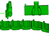 """1/64th Equipment track link set 1. 120 links 24"""" w 3d printed"""