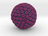 Herpes Simplex Virus capsid, radial colour 1Mx mag 3d printed