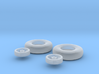 hurricane 4 spoke wheels(1:72) 3d printed