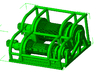 1/87th Heavy Truck Double Drum Winch w Guard 3d printed