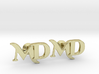 Monogram Cufflinks MD 3d printed