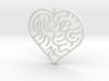 Heart Maze Pendant 3 3d printed