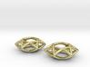 Star Of David earrings (pair) 3d printed