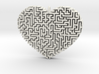 Heart Maze-Shaped Pendant 2 3d printed