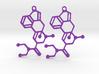 Molecule LSD Earrings 3d printed