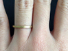 Minimalist Spacer Ring (just under 2mm) Size 5 3d printed Raw Brass