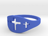 Cross Trio Ring Size 7 3d printed
