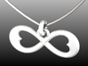 Two Hearts Infinity Symbol (small) 3d printed Digital Rendering from 3D Model