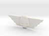 Winged Skull Badge 1 3d printed