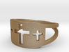Cross Trio Open Band Ring Size 8 3d printed