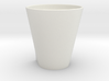 Squircle Tumbler in Porcelain 3d printed
