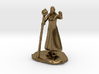 Female Dragonborn Wizard in Robe with Staff 3d printed