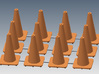 "18"" traffic cones 1/24th (12) 3d printed"