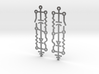 Electrical Circuit Earrings 3d printed