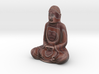 Textured Buddha: earthy bands. 3d printed