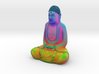 Textured Buddha: chakras, heatmap, rainbows! 3d printed