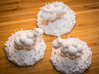 Funky sheep in a patch of funky grass 3d printed Sheep having a meeting