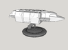 V Mothership Display Base v2 (Models to 1/64) 3d printed Application Example - Ship NOT INCLUDED