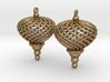 Sphere Swirl Ornaments (pair) 3d printed