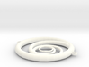 Orbiting Circle Pendant Double Loop 3d printed