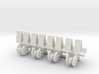1/64 Mechanical Transplanter, set of 4 3d printed