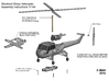 Westland Wasp Helicopter Kit 1/144 3d printed