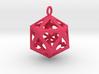 Icosahedron Love pendant 3d printed