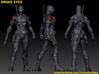 SNAKE EYES Of GI JOE 1.97 Inch Figure 3d printed Snake Eyes digital model turnaround