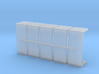 20ft Flatbed Container Set of 5 1/285 6mm 3d printed