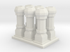 Edwardian Chimneys 1 - 4mm 3d printed
