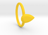 Pear gems Ring size 7.5 3d printed