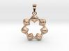 0067 Antisymmetric Torus Pendant (p=7.0) #007 3d printed