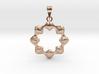0069 Antisymmetric Torus Pendant (p=8.0) #008 3d printed