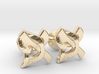 "Hebrew Monogram Cufflinks - ""Aleph Pay"" Small 3d printed"