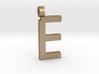Letter E Necklace 3d printed