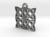 """Gothic Knot"" Pendant, Cast Metal 3d printed"