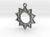 """Decagram 3.0"" Pendant, Cast Metal 3d printed"