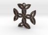 """""""Carolingian Cross"""" Pendant, Printed Metal 3d printed"""