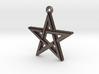 """""""Pentagram 2.0"""" Pendant, Printed Metal 3d printed"""