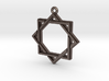 """Octagram 2.0"" Pendant, Printed Metal 3d printed"