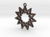 """""""Hendecagram 4.1"""" Pendant, Printed Metal 3d printed"""