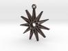 """""""Hendecagram 5.1"""" Pendant, Printed Metal 3d printed"""