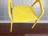 Modern Designer Chair #2 1:12 scale  3d printed Yellow Strong & Flexible Polished